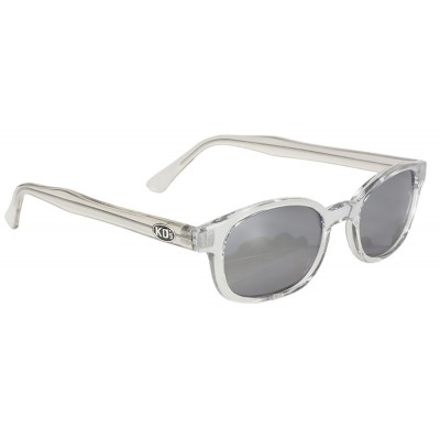 KD\'s 2200 -1 clear frame silver mirror sunglasses by cachalo