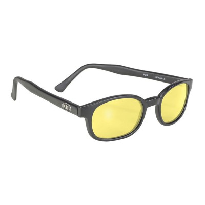 KD's 21112 -1 - black matte frame - yellow lenses - sunglasses by cachalo