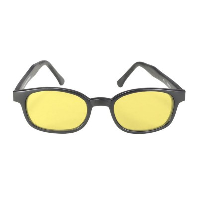 KD's 21112 -2 - black matte frame - yellow lenses - sunglasses by cachalo