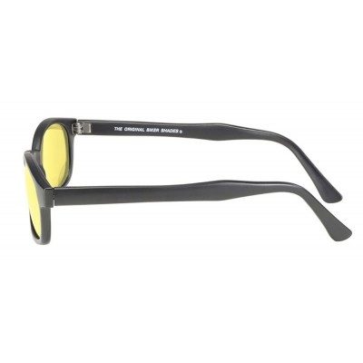 KD's 21112 -4 - black matte frame - yellow lenses - sunglasses by cachalo