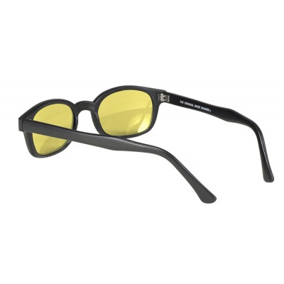 KD's 21112 -5 - black matte frame - yellow lenses - sunglasses by cachalo