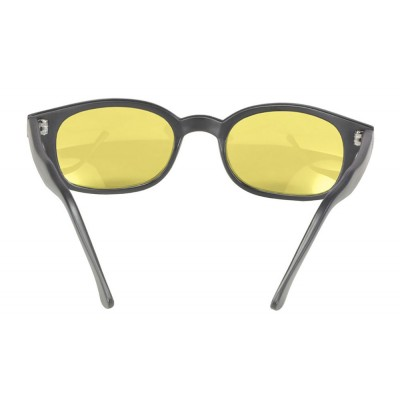 KD's 21112 -6 - black matte frame - yellow lenses - sunglasses by cachalo