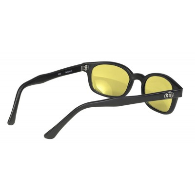 KD's 21112 -7 - black matte frame - yellow lenses - sunglasses by cachalo