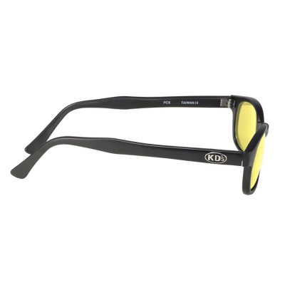KD's 21112 -8 - black matte frame - yellow lenses - sunglasses by cachalo