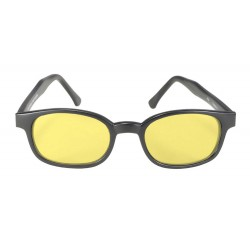 X-KDS 11112 -2 black matte frame - yellow lens sunglasses by cachalo