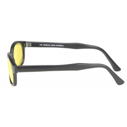 X-KDS 11112 -4 black matte frame - yellow lens sunglasses by cachalo