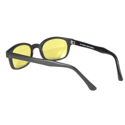 X-KDS 11112 -5 black matte frame - yellow lens sunglasses by cachalo