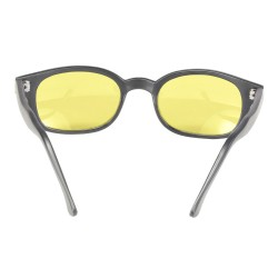 X-KDS 11112 -6 black matte frame - yellow lens sunglasses by cachalo