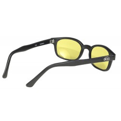 X-KDS 11112 -7 black matte frame - yellow lens sunglasses by cachalo