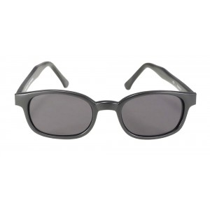 X-KDS 10019 -2 black matte frame - grey polarized lens sunglasses by cachalo